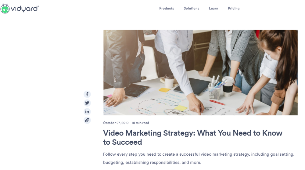 VIDEO MARKETING STRATEGY: WHAT YOU NEED TO KNOW TO SUCCEED