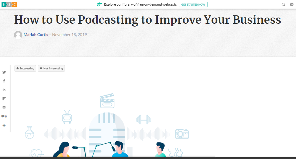 HOW TO USE PODCASTING TO IMPROVE YOUR BUSINESS