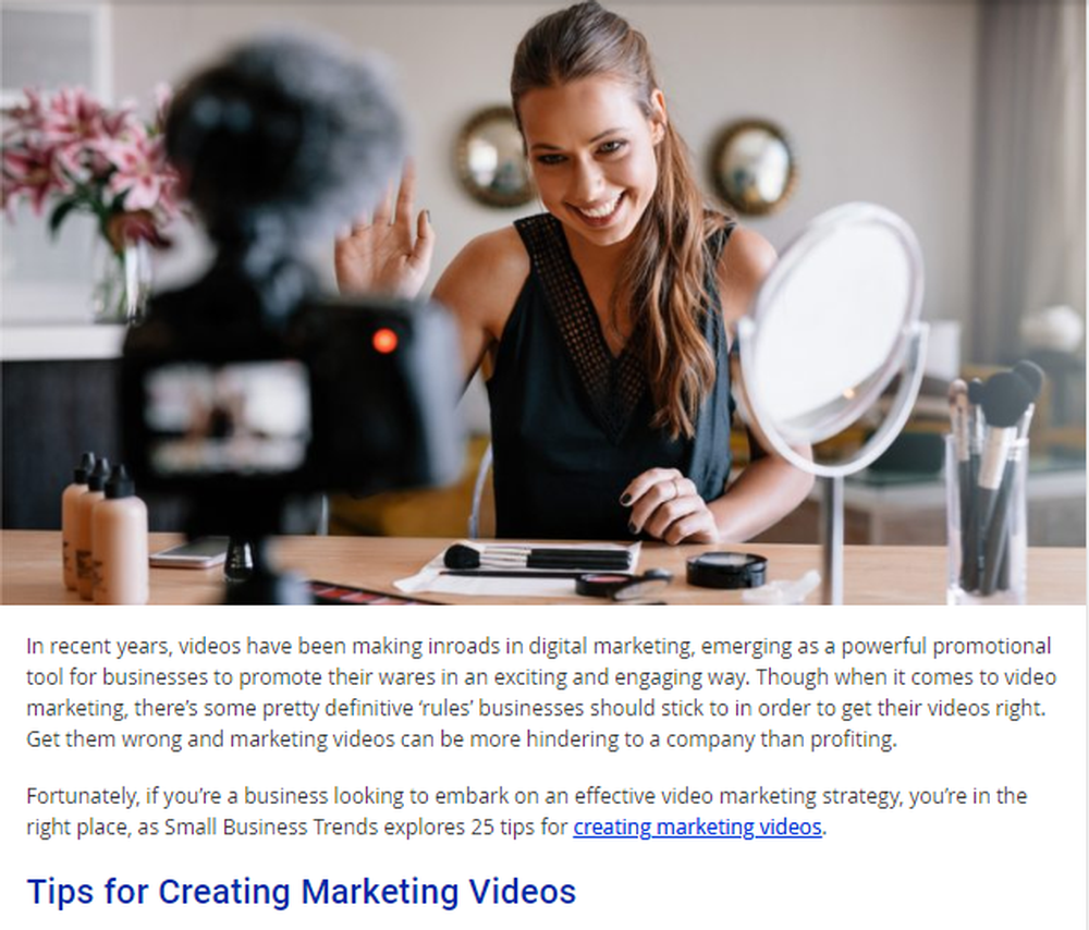 25 TIPS FOR CREATING GREAT MARKETING VIDEOS