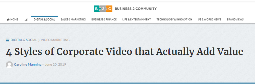 4 STYLES OF CORPORATE VIDEO THAT ACTUALLY ADD VALUE