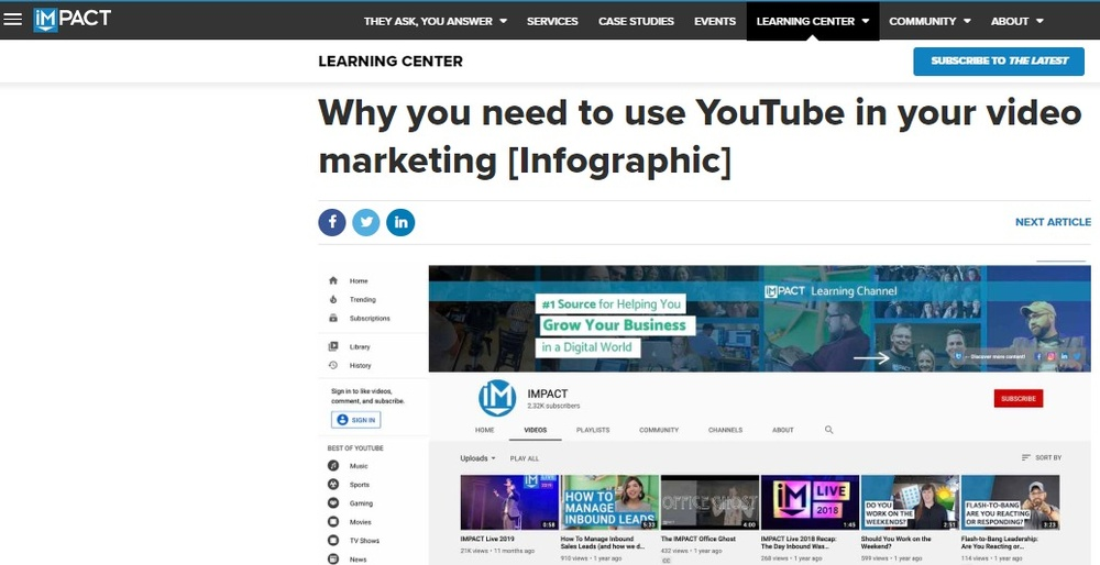 WHY YOU NEED TO USE YOUTUBE IN YOUR VIDEO MARKETING [INFOGRAPHIC]