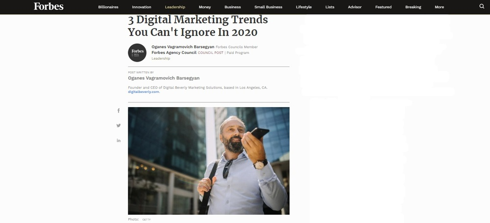 3 DIGITAL MARKETING TRENDS YOU CAN'T IGNORE IN 2020